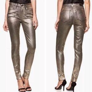 NWT Paige x Rosie HW Stevie Skinny Jeans Shiny Hi